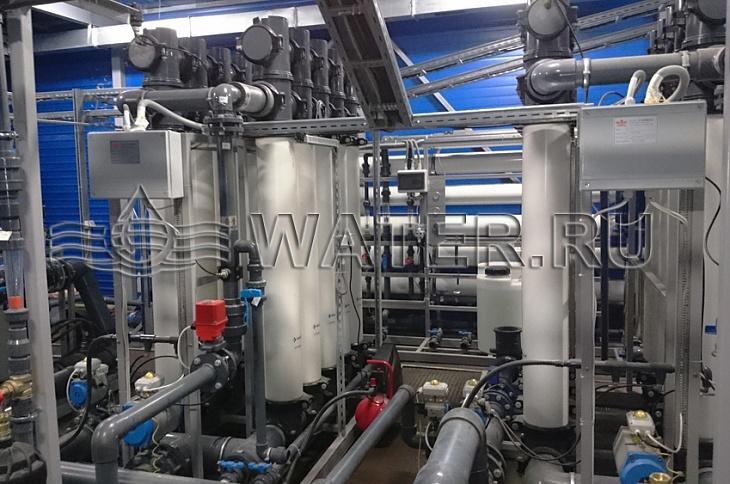 система очистки воды из поверхностного источника